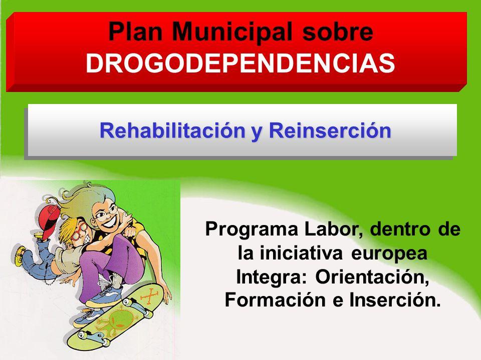 Plan Municipal sobre DROGODEPENDENCIAS Programa Labor, dentro de la iniciativa europea Integra: Orientación, Formación e Inserción.