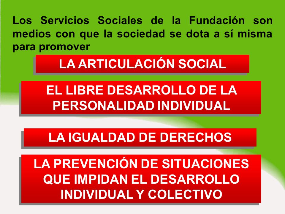 SEGUNDO NIVEL D ROGODEPENDENCIAS Servicios Especializados que se agrupan en programas a la medida de la población a la que están destinados.