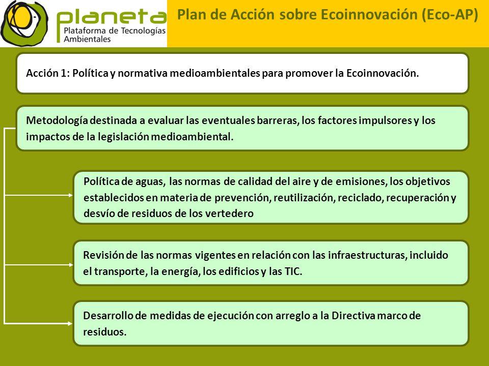 Plan de Acción sobre Ecoinnovación (Eco-AP) Acción 1: Política y normativa medioambientales para promover la Ecoinnovación. Metodología destinada a ev