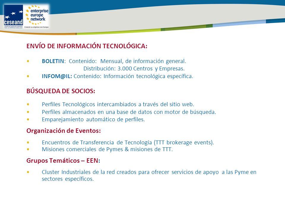 ENVÍO DE INFORMACIÓN TECNOLÓGICA: BOLETIN: Contenido: Mensual, de información general.