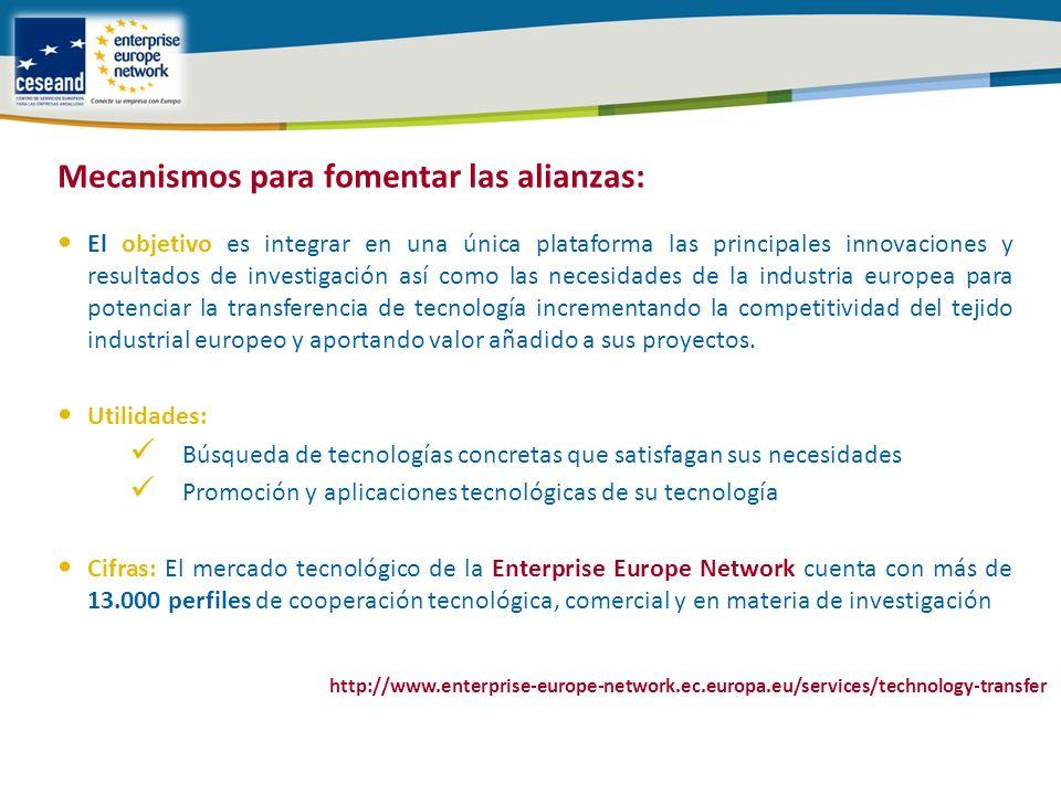 El objetivo es integrar en una única plataforma las principales innovaciones y resultados de investigación así como las necesidades de la industria europea para potenciar la transferencia de tecnología incrementando la competitividad del tejido industrial europeo y aportando valor añadido a sus proyectos.