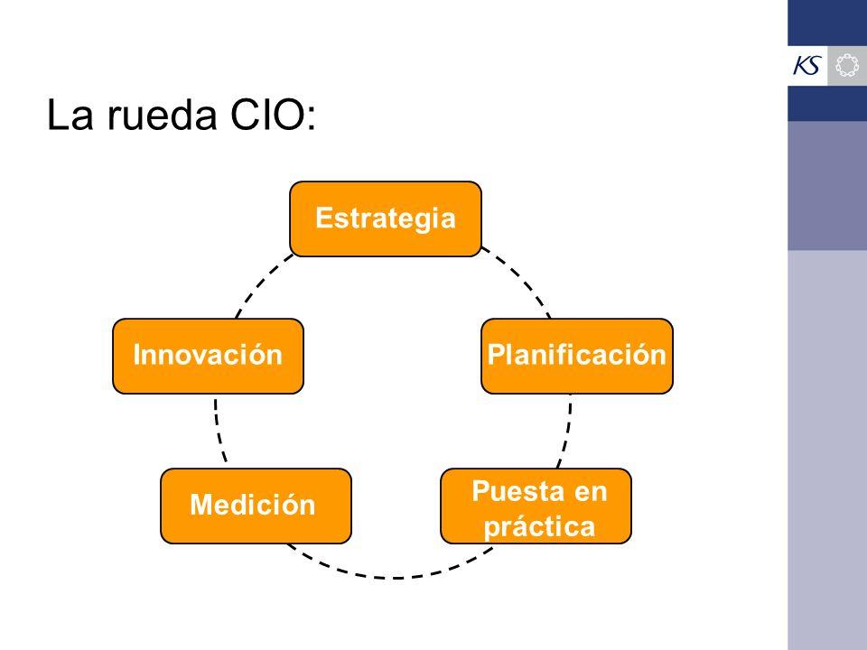 La rueda CIO: EstrategiaInnovaciónPlanificaciónMedición Puesta en práctica