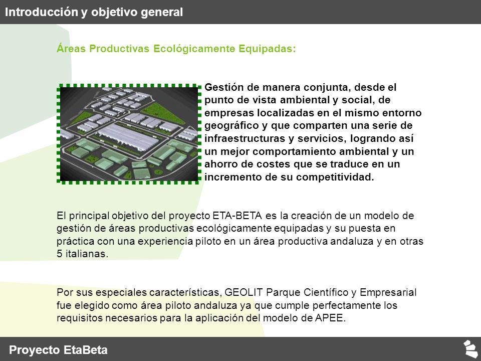 ETA-BETA Environmental Technologies Adopted by small Businesses operating in EnTerpreneurial Areas Apoyo a la implementación de Tecnologías Ambientales en empresas establecidas en Áreas Productivas Ecológicamente Equipadas IV.
