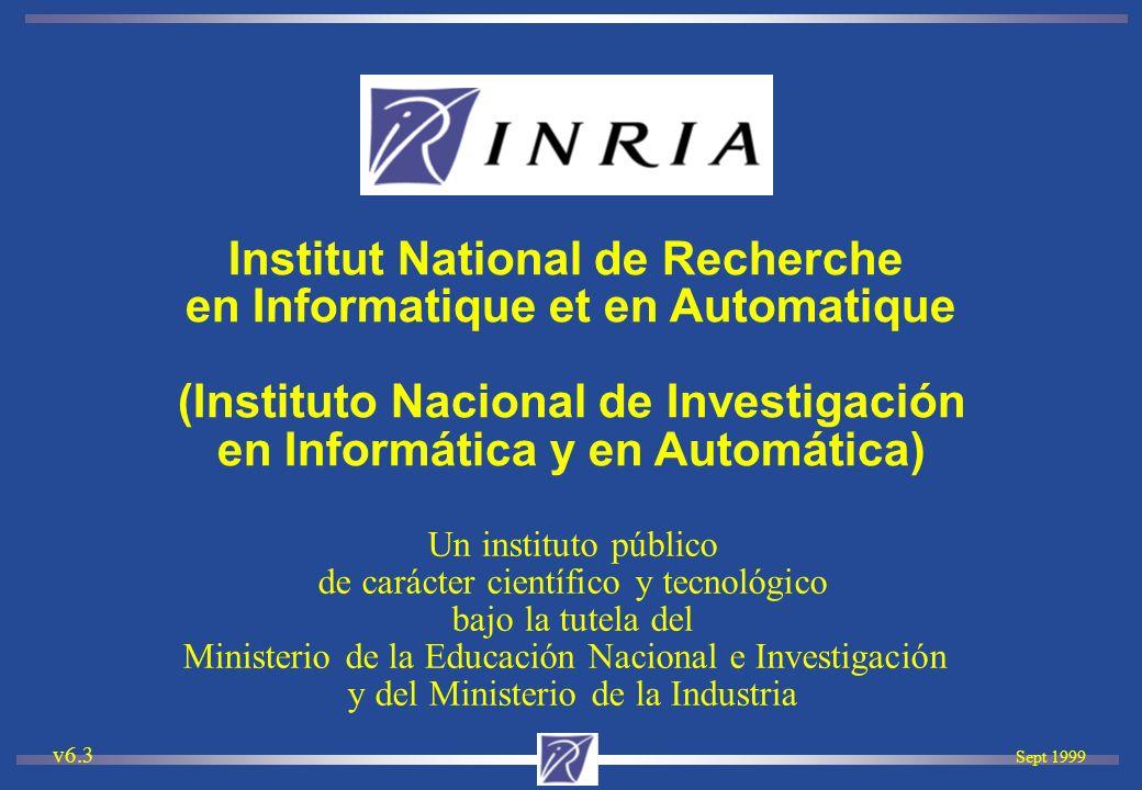 Sept 1999 v6.3 Un instituto público de carácter científico y tecnológico bajo la tutela del Ministerio de la Educación Nacional e Investigación y del
