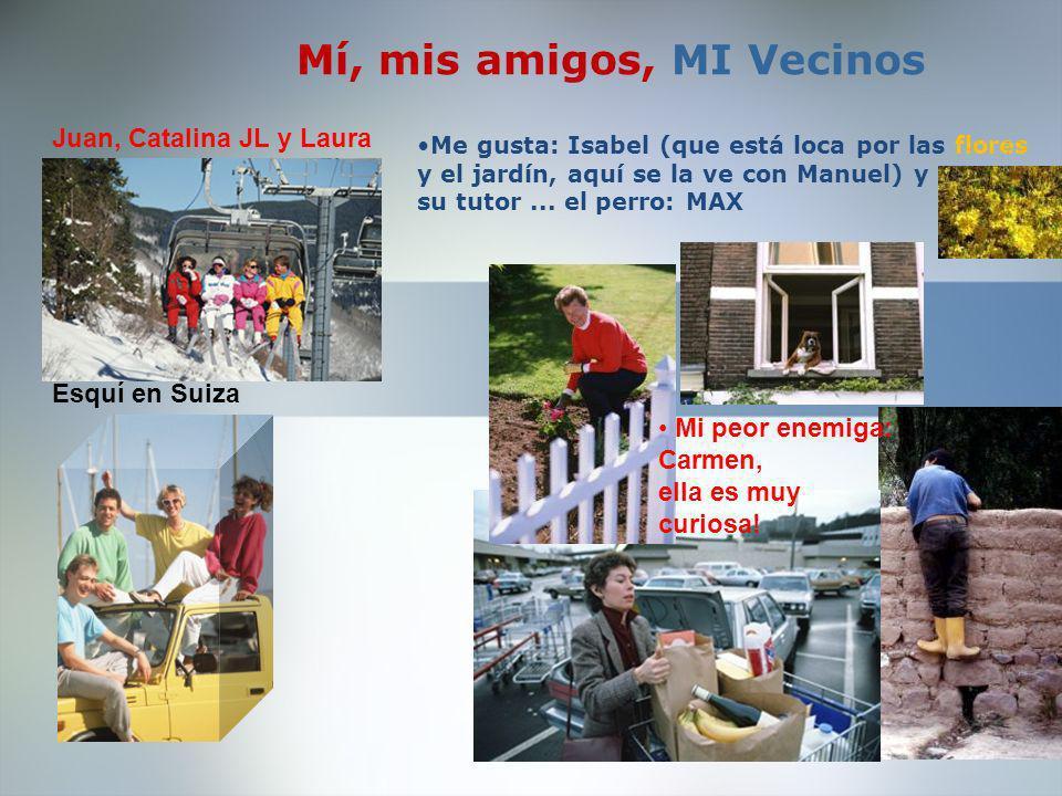 MI FAMILIA Y YO Mi hermana Laura Y su marido: Antonio Sus hijos: Jesús y Silvia Y el los abuelos: Ramón Esta es mi hija Rosa, de 7 años.