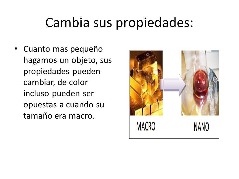 Cambia sus propiedades: Cuanto mas pequeño hagamos un objeto, sus propiedades pueden cambiar, de color incluso pueden ser opuestas a cuando su tamaño