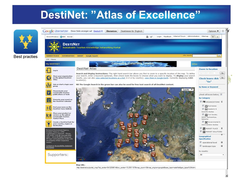 DestiNet: Atlas of Excellence