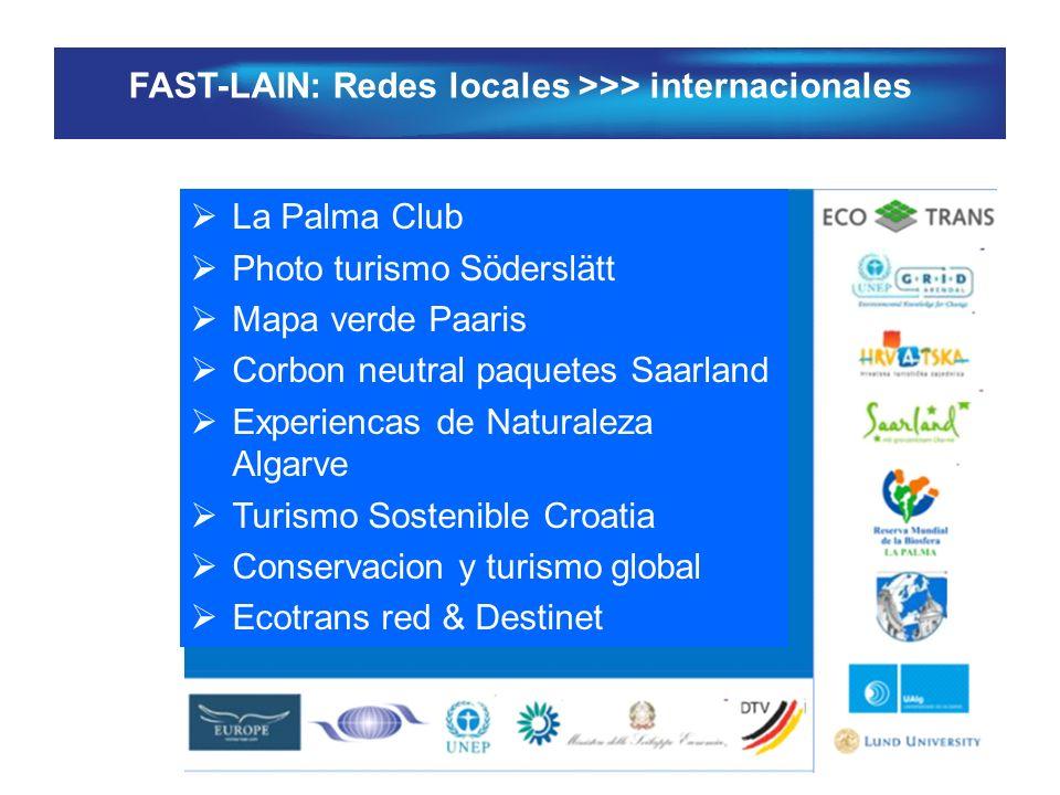 FAST-LAIN: Redes locales >>> internacionales La Palma Club Photo turismo Söderslätt Mapa verde Paaris Corbon neutral paquetes Saarland Experiencas de