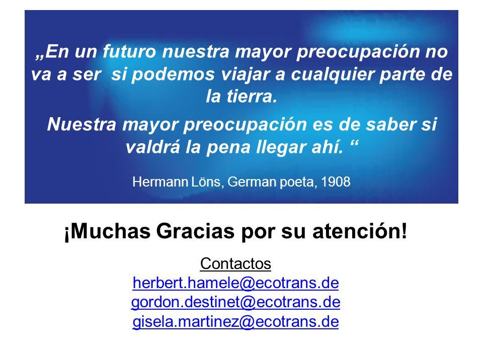 ¡Muchas Gracias por su atención! Contactos herbert.hamele@ecotrans.de gordon.destinet@ecotrans.de gisela.martinez@ecotrans.de En un futuro nuestra may