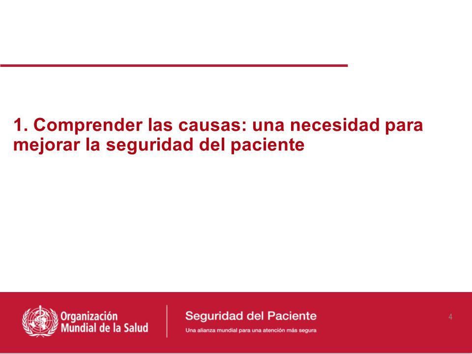 1. Comprender las causas: una necesidad para mejorar la seguridad del paciente 4