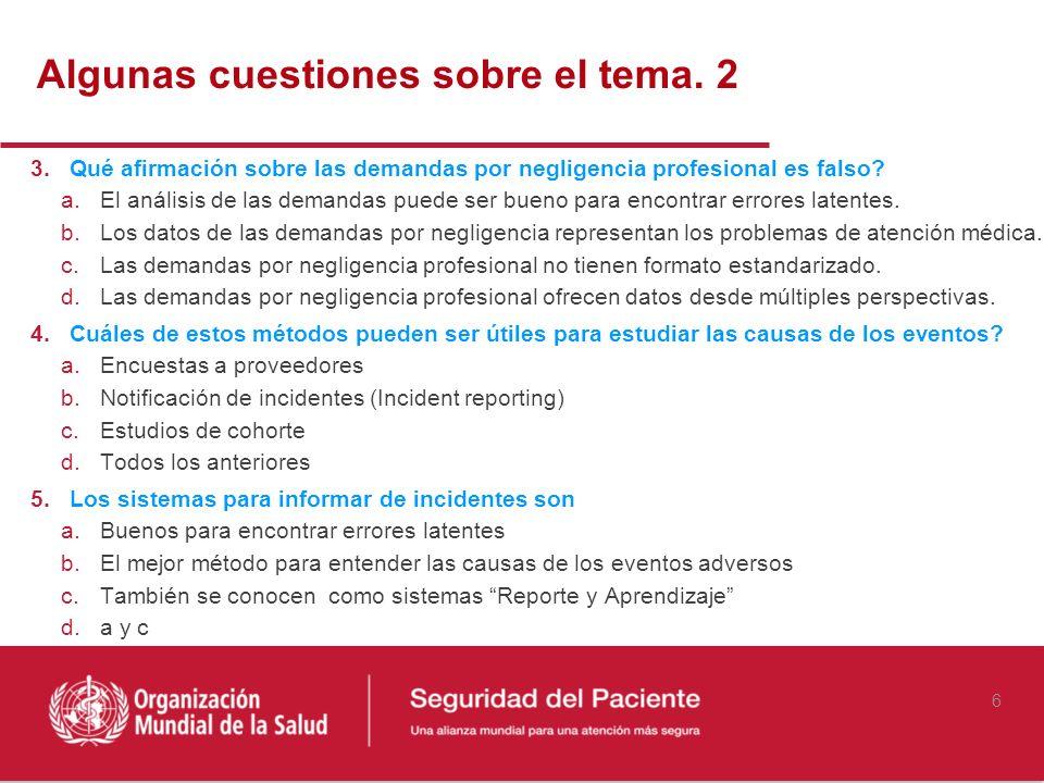 6 3.Qué afirmación sobre las demandas por negligencia profesional es falso? a.El análisis de las demandas puede ser bueno para encontrar errores laten