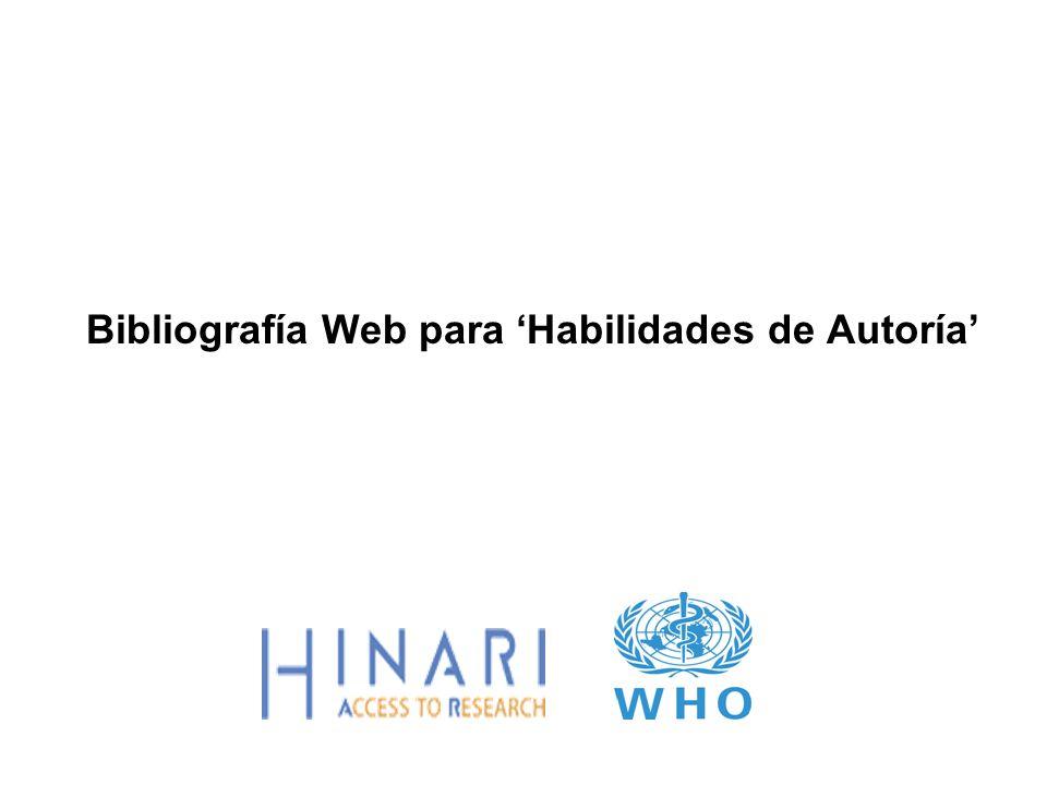 Bibliografía Web para Habilidades de Autoría