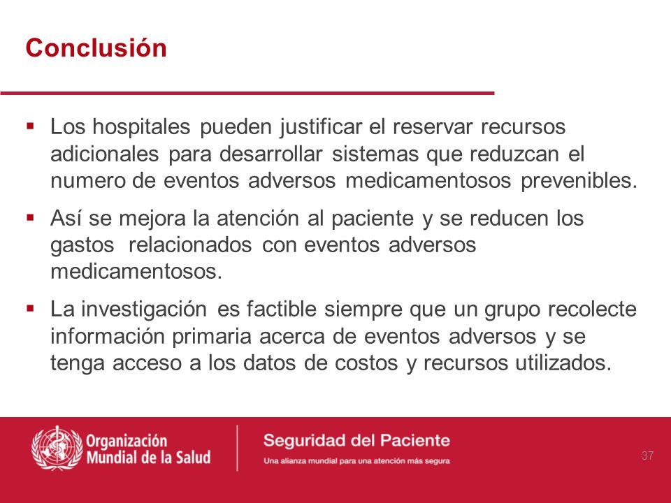 Hallazgos Clave La incidencia de los eventos adversos medicamentosos fue del 6.0%: (247 de 4.108 pacientes). La estancia hospitalaria aumentó en 2.2 d