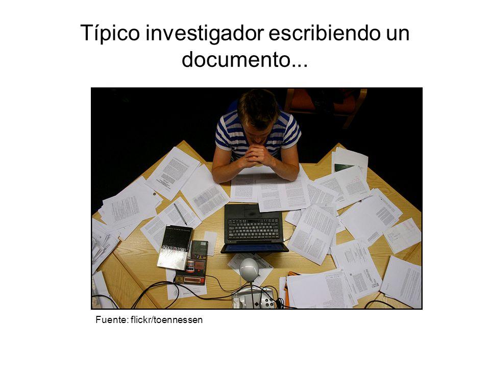 Típico investigador escribiendo un documento... Fuente: flickr/toennessen