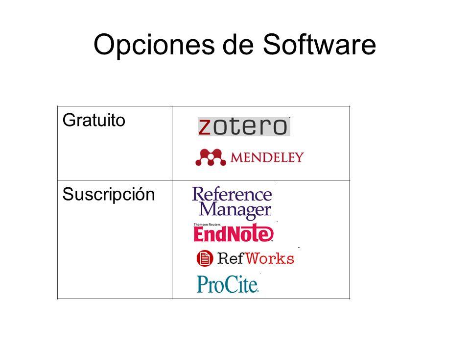 Opciones de Software Gratuito Suscripción