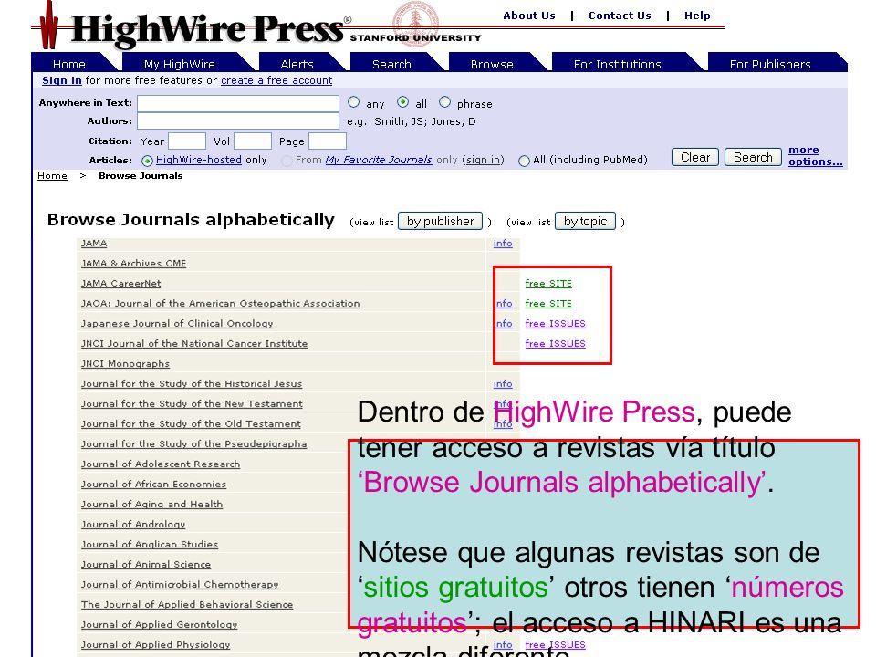 Wiley Interscience 0 El sitio Web Wiley InterScience comienza con una lista Browse by Subject Area.