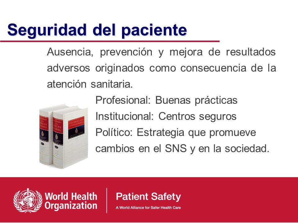 Dimensiones de la Calidad Dimensiones de la Calidad Seguridad B E C D A Efectividad Eficiencia Equidad Centrada en el paciente Accesibilidad