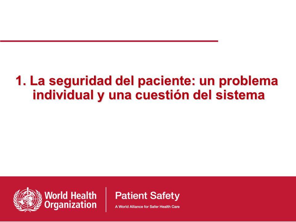 Índice 1)La seguridad del paciente: un problema individual y una cuestión del sistema 2)Medir el daño: el primer paso en la investigación de la seguri