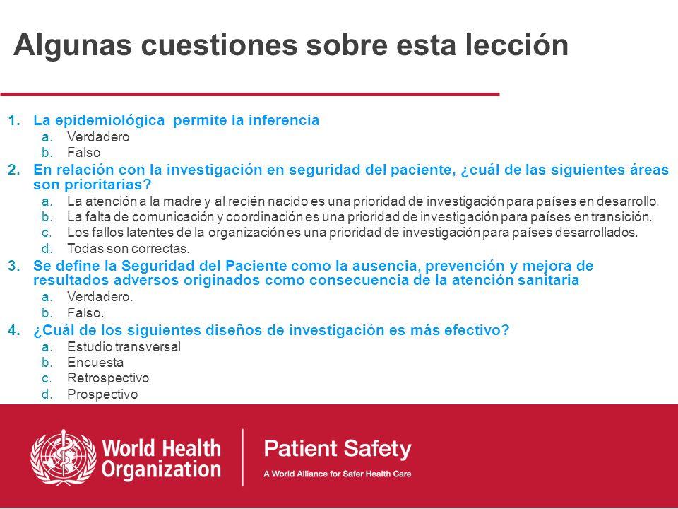 1. La seguridad del paciente: un problema individual y una cuestión del sistema