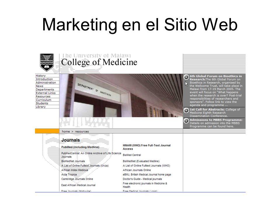 Marketing en el Sitio Web