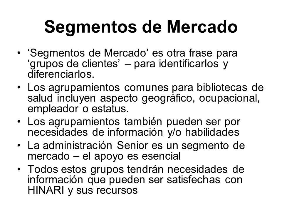 Ejercicio 3 ¿Qué herramientas de promoción utilizaría para hacer marketing de HINARI.