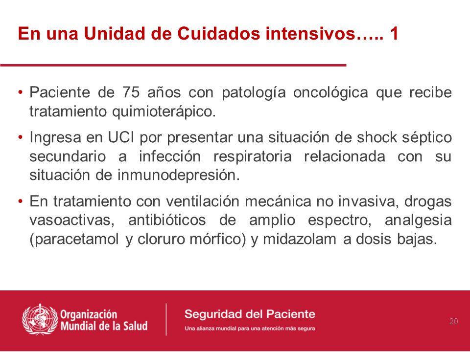 A propósito de un caso Blanca Obón-Azuara Médico Especialista en Medicina Intensiva 19