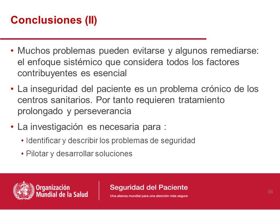 La seguridad del paciente es un problema que, con diferentes matices, afecta a todos los países. Cuantificar el problema y comprender los factores que