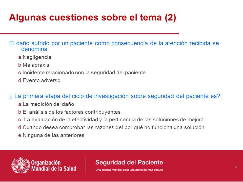 Problema de salud pública hospitalaria en todos los países Estudios realizados en España indican que los efectos adversos motivados por los EM motivan entre el 4,7 y el 5,3% de los ingresos hospitalarios en España (Otero MJ, 20001, Martín MT, 2002).