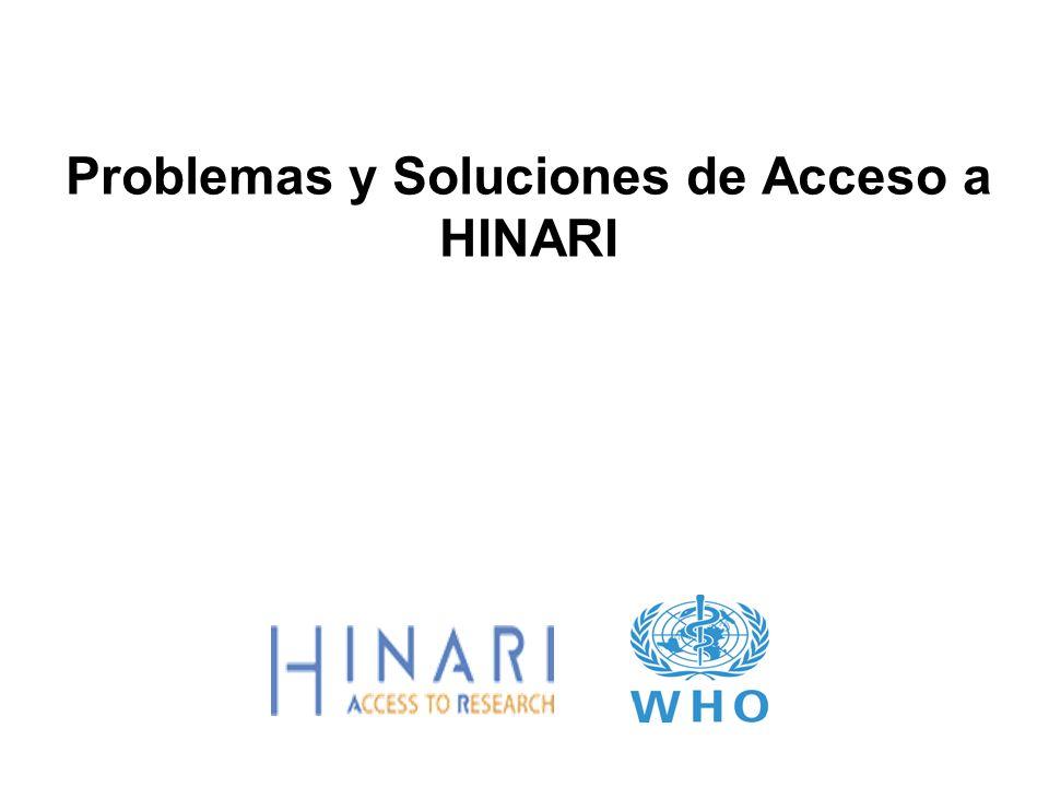 Problemas y Soluciones de Acceso a HINARI