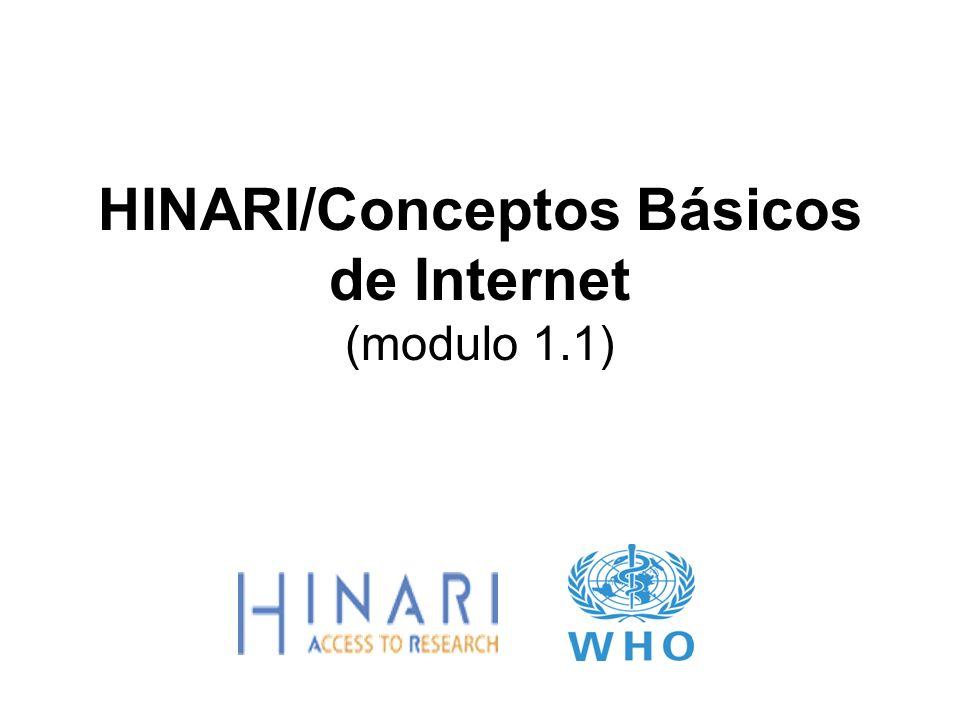 HINARI/Conceptos Básicos de Internet (modulo 1.1)
