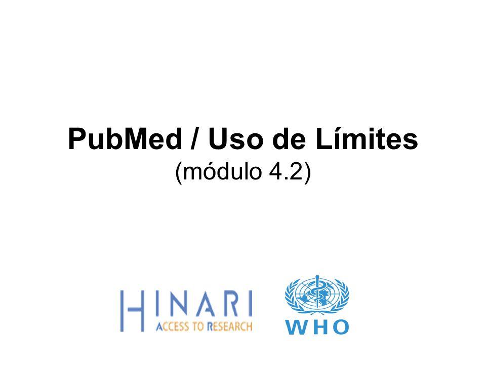 Instrucciones – Esta parte del: Curso es una presentación en PowerPoint que intenta introducirlo al PubMed/Límites.