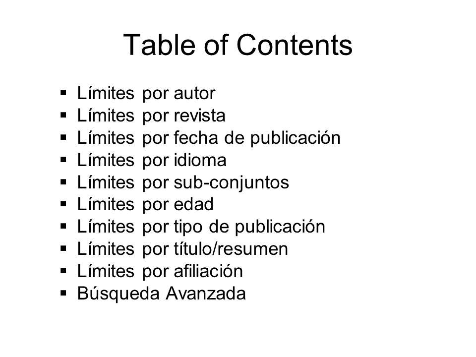 Limit by Author(s) Este es un ejemplo de la búsqueda por el apellido del Autor, utilizando el apellido Ribeiro.