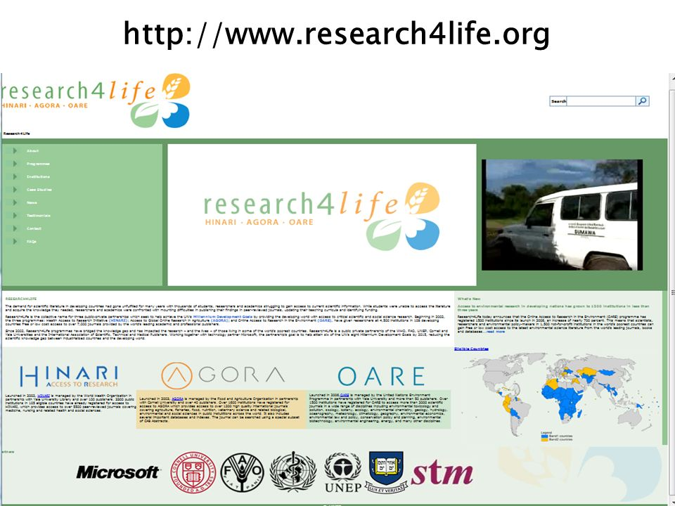 Al introducir los datos en My Saved Data, puede ver una lista de las búsquedas guardadas – HIV y Pregnancy y malaria y mosquiteros en este ejemplo.