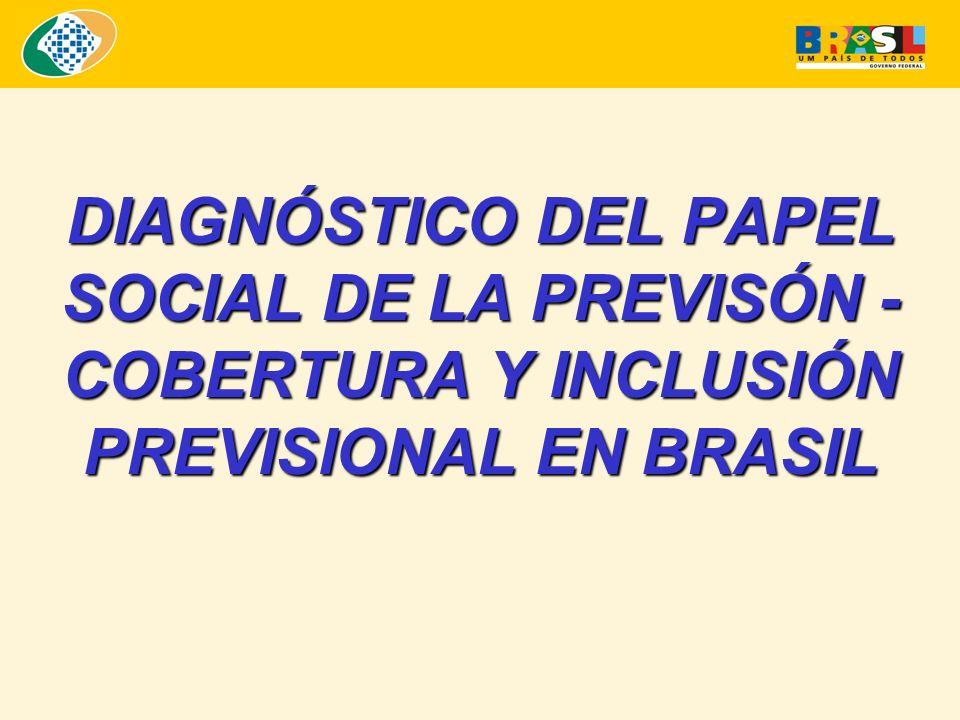 DIAGNÓSTICO DEL PAPEL SOCIAL DE LA PREVISÓN - COBERTURA Y INCLUSIÓN PREVISIONAL EN BRASIL
