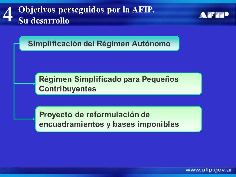 Objetivos perseguidos por la AFIP.