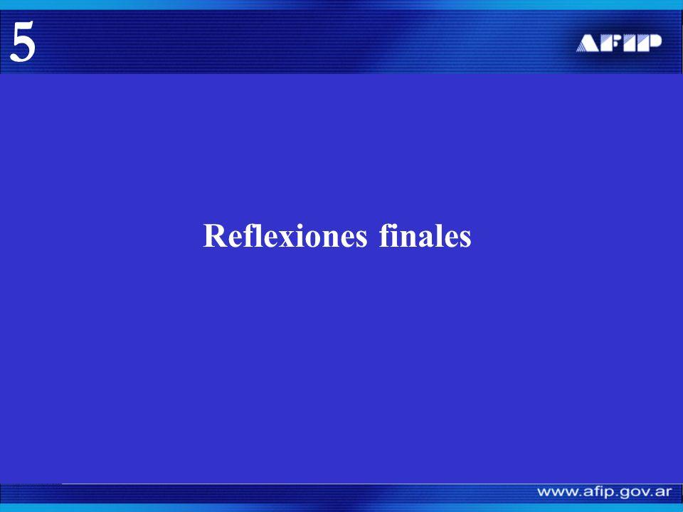 Reflexiones finales 5