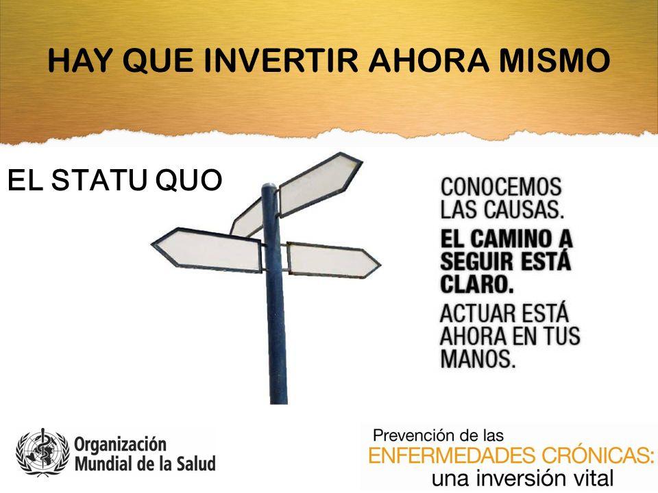 EL STATU QUO HAY QUE INVERTIR AHORA MISMO