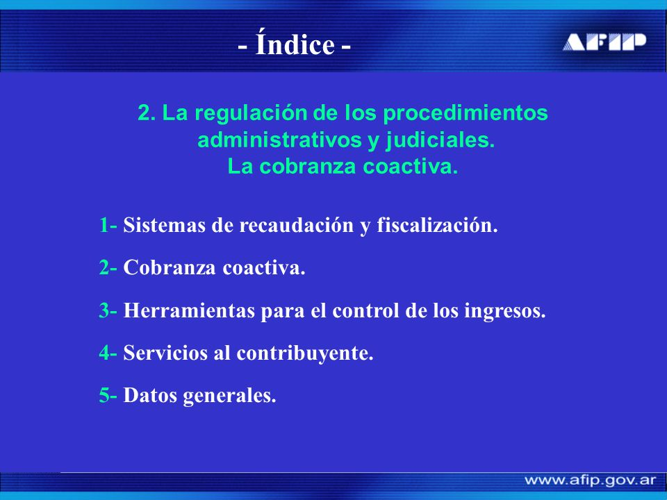 Sistemas de recaudación y fiscalización 1