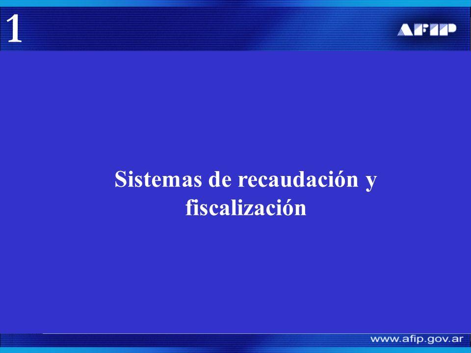 Sistemas de recaudación: Presentación de declaraciones juradas.