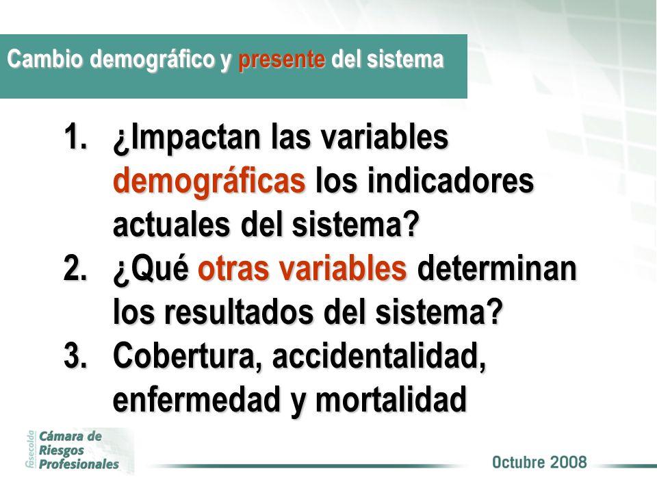 1.¿Impactan las variables demográficas los indicadores actuales del sistema? 2.¿Qué otras variables determinan los resultados del sistema? 3.Cobertura