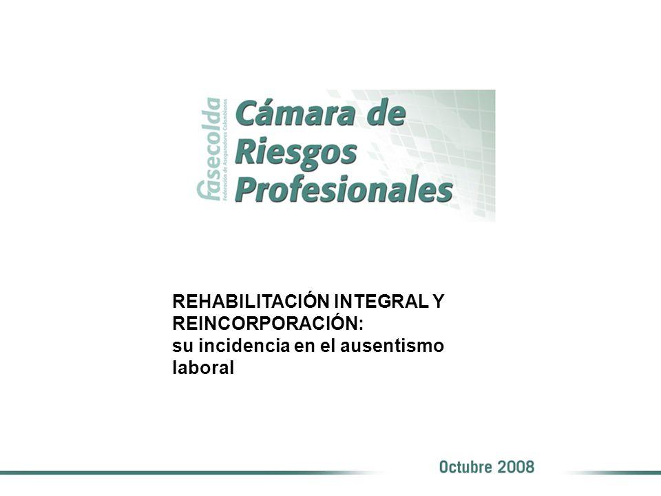 REHABILITACIÓN INTEGRAL Y REINCORPORACIÓN: su incidencia en el ausentismo laboral