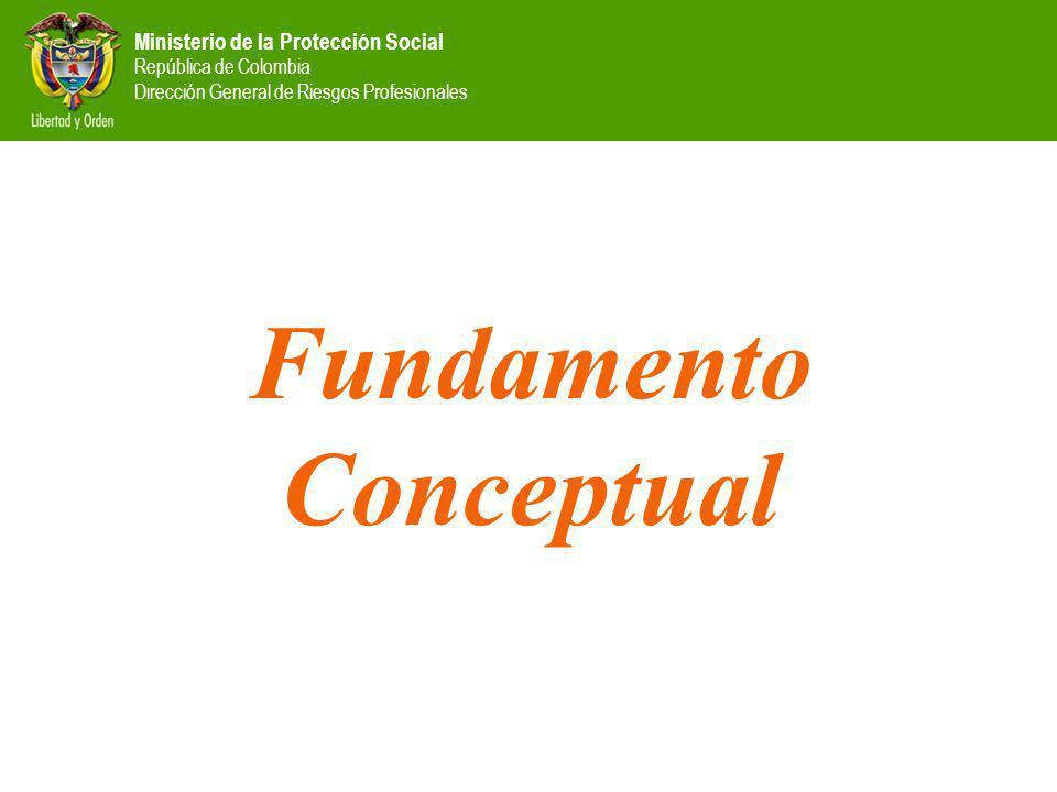 Ministerio de la Protección Social República de Colombia Dirección General de Riesgos Profesionales Fundamento Conceptual