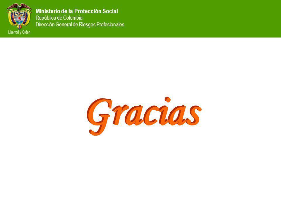 Ministerio de la Protección Social República de Colombia Dirección General de Riesgos Profesionales Gracias