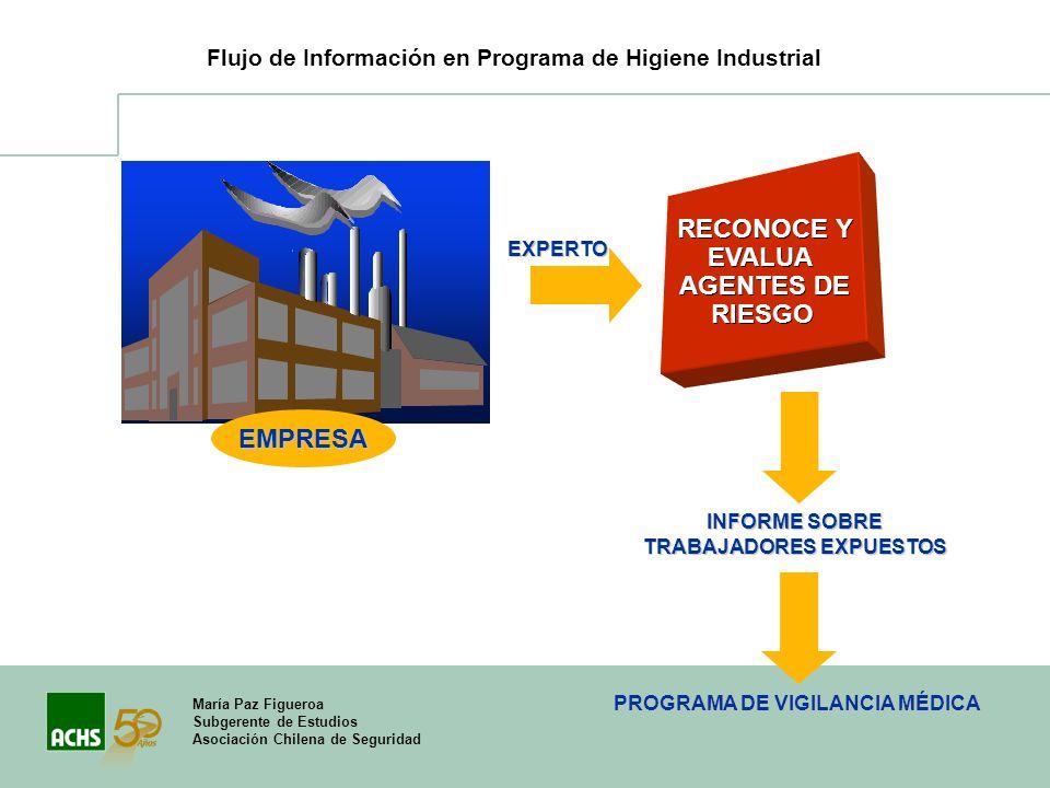 María Paz Figueroa Subgerente de Estudios Asociación Chilena de Seguridad RECONOCE Y EVALUA AGENTES DE RIESGO INFORME SOBRE TRABAJADORES EXPUESTOS EMP