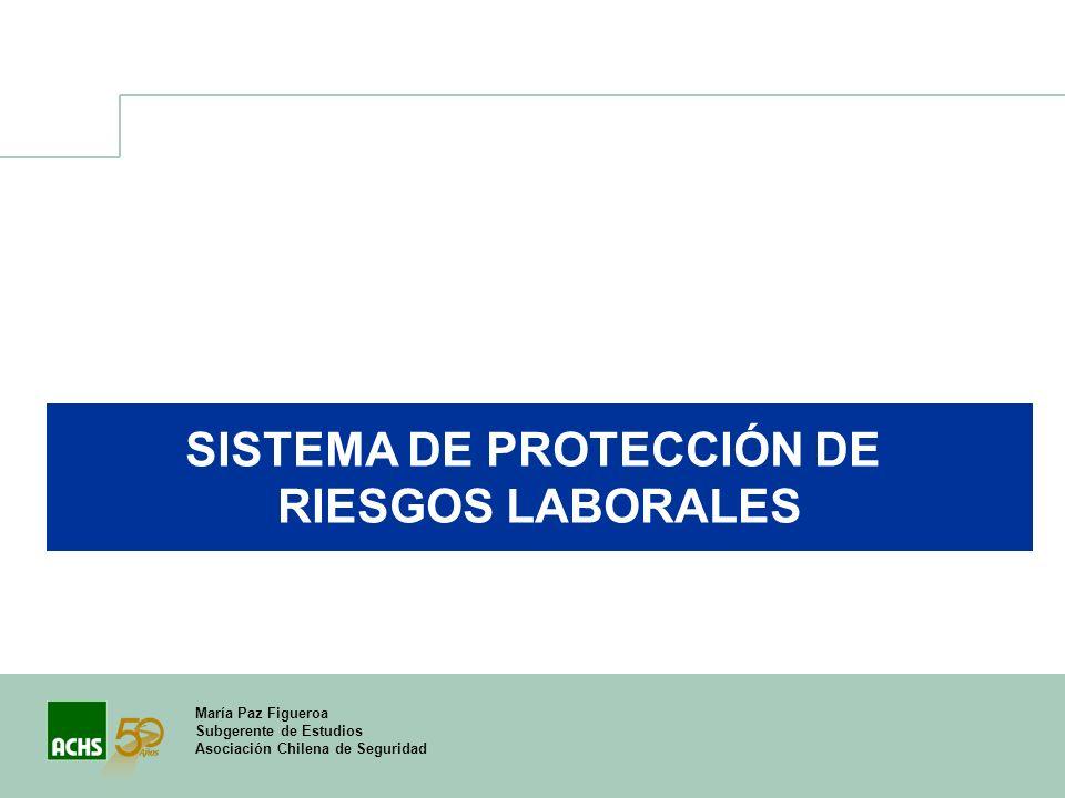 María Paz Figueroa Subgerente de Estudios Asociación Chilena de Seguridad SISTEMA DE PROTECCIÓN DE RIESGOS LABORALES