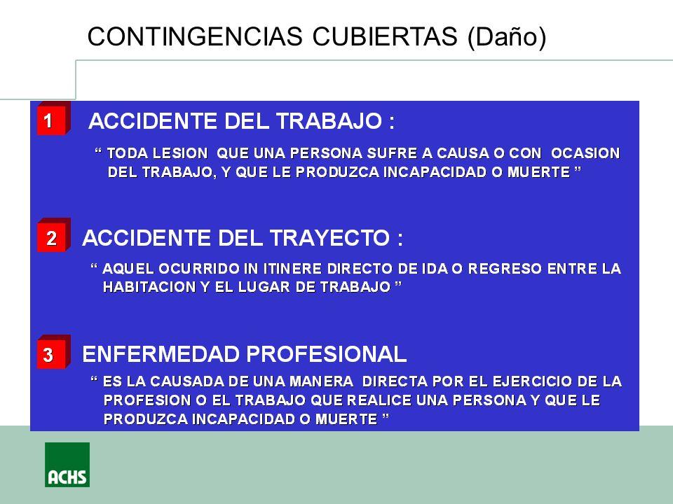 María Paz Figueroa Subgerente de Estudios Asociación Chilena de Seguridad CONTINGENCIAS CUBIERTAS (Daño)