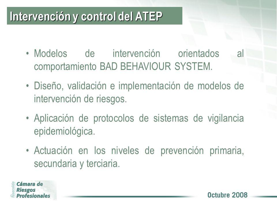 Intervención y control del ATEP Modelos de intervención orientados al comportamiento BAD BEHAVIOUR SYSTEM.