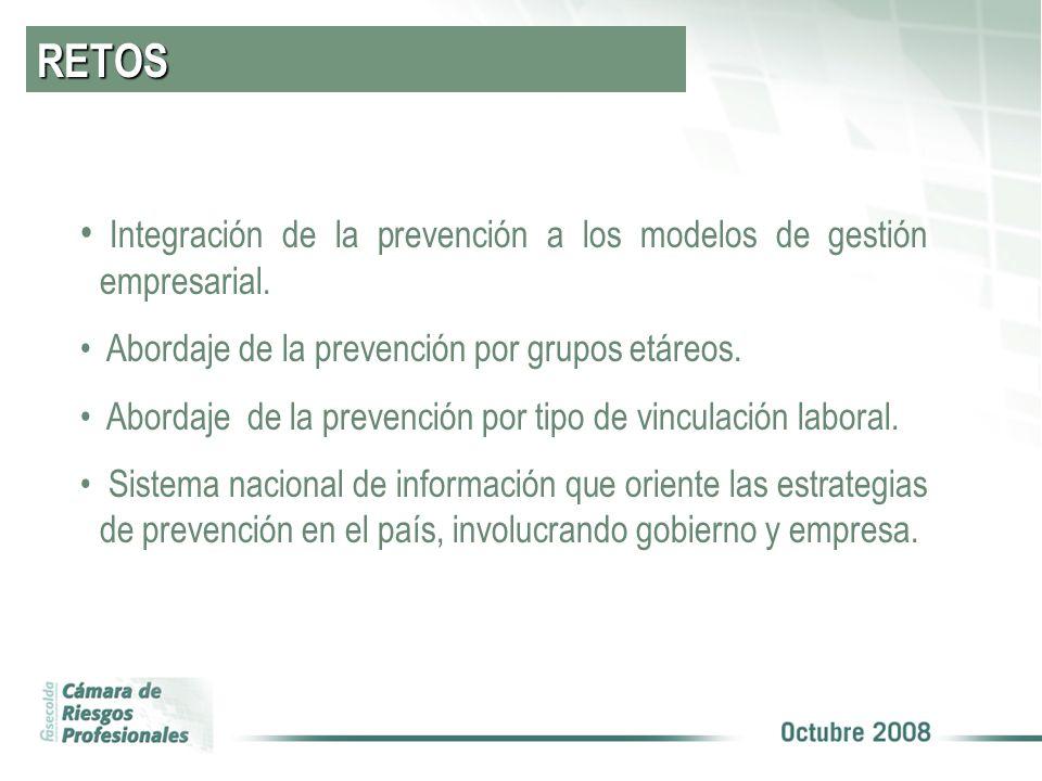 RETOS Integración de la prevención a los modelos de gestión empresarial.