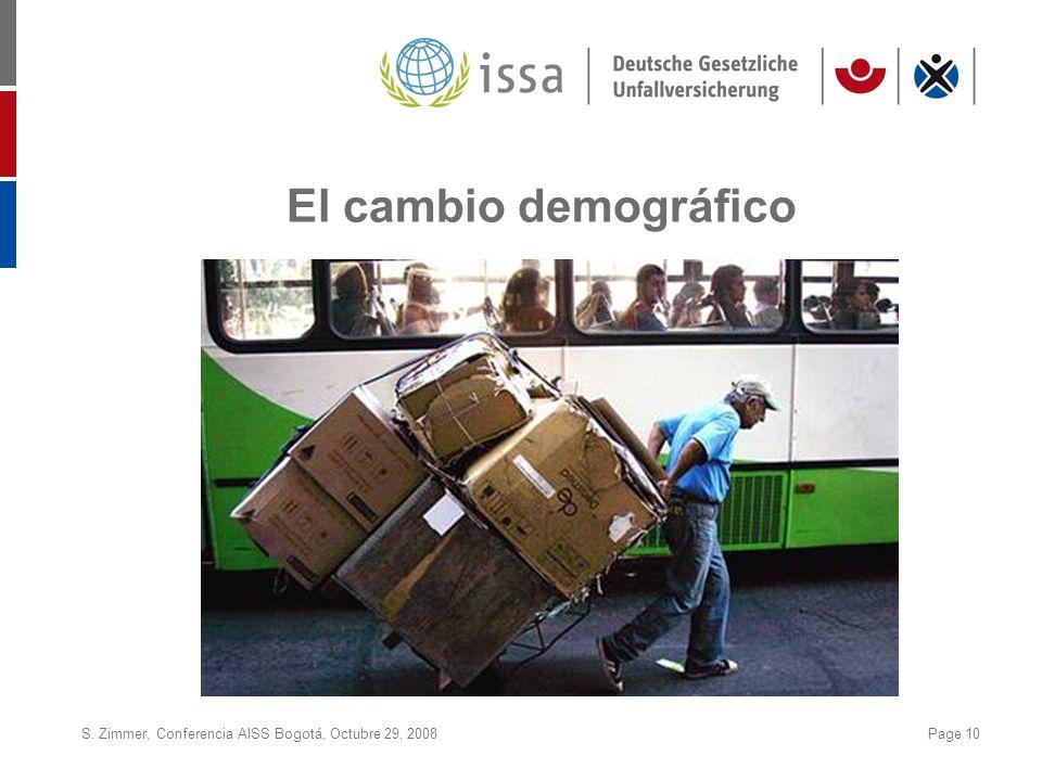S. Zimmer, Conferencia AISS Bogotá, Octubre 29, 2008Page 10 El cambio demográfico