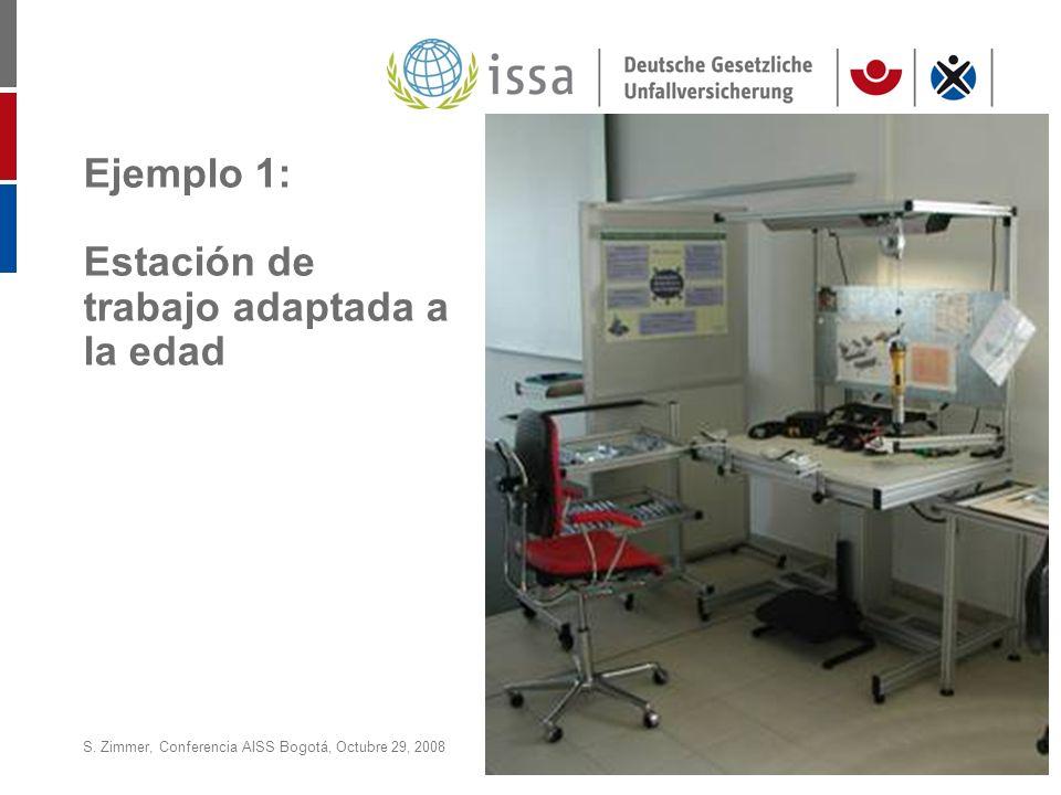 S. Zimmer, Conferencia AISS Bogotá, Octubre 29, 2008Page 14 Ejemplo 1: Estación de trabajo adaptada a la edad